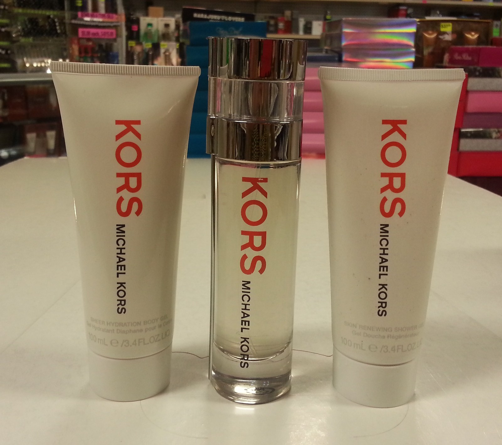 Kors by Michael Kors 3PCs Women Set, 1.7 oz + 3.4 Body Gel + Shower Gel, Rare