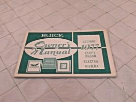 1977 Buick Owners Manual LeSabre Estate Wagon Electra Riviera Vintage - $18.43