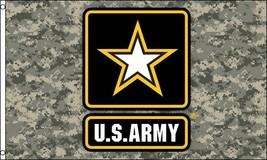 CAMO US ARMY STAR 3 X 5  FLAG banner FL720 GUN MILITARY camouflage usarm... - $6.27