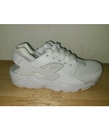 Nike Boys Air Huarache Run 654275-110 White Running Shoes Lace Up Size 5Y - $39.59