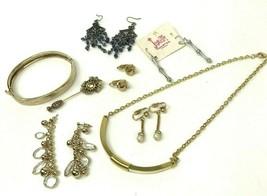 Small Lot Vtg COSTUME JEWELRY Gold Tone Silver Tone Metal Boho MOD Retro  - $14.84