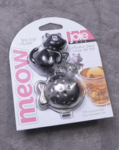 JOIE MEOW TEA CUP INFUSER  White with Bowl  NWT NEW - £13.16 GBP