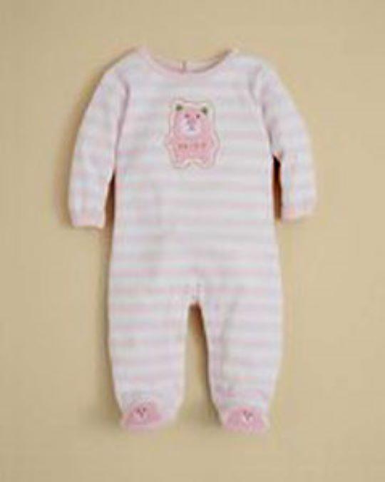 Absorba Baby Girls Striped Bear Footie Sleeper - $24.00