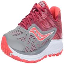 Saucony Women's Ride 10 Running Shoes Grey/Berry - $46.44