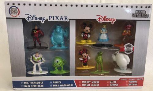 Disney Pixar Nano Metalfigs Diecast Metal 10 Pack Figure Collector Set