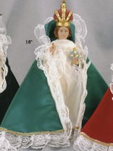 Infant of Prague 9-inch Statue ​with Green Velvet Gown