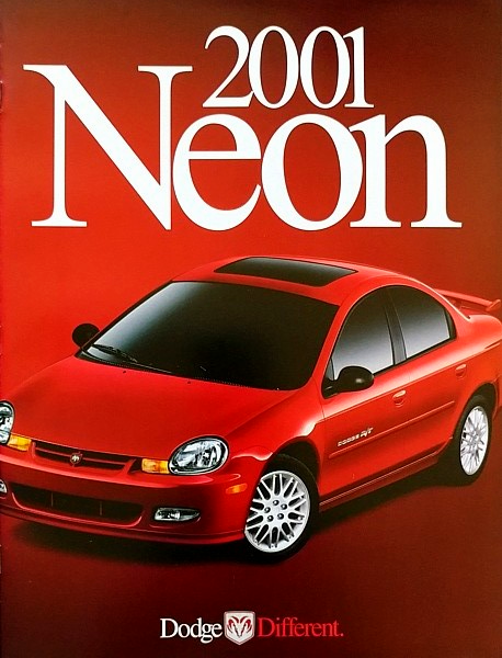 Primary image for 2001 Dodge NEON sales brochure catalog US 01 SE ES ACR R/T
