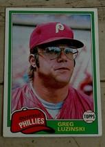 Greg Luzinski, Phillies,  1981  #270  Topps  Baseball Card,  GOOD CONDITION - $0.99