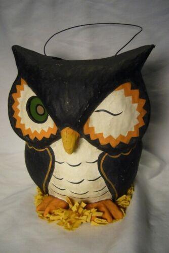 Bethany Lowe Owl Bucket Paper Mache Halloween