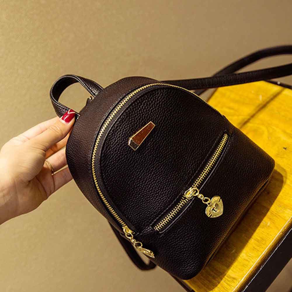 Women's Shoulder Bag Girls Travel Backpack School Rucksack College Women's Rivet