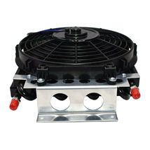 "5"" Oil Cooler with 10"" Electric Fan and 3/8"" Fitting 48"" L Hose Kit image 6"