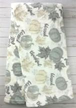 Morgan Plush Throw Blanket 50 x 60 Fall Grey Pumpkins - €17,74 EUR