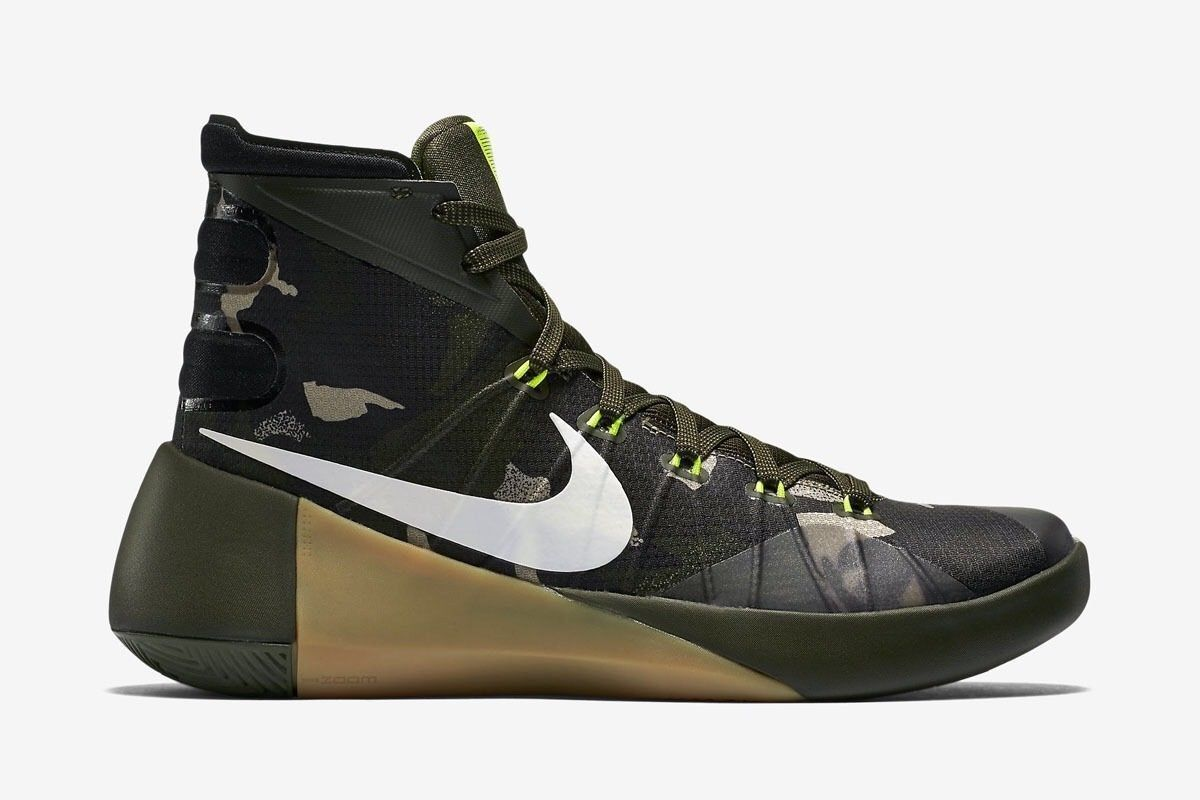 2e4bed5eb6a Nike Hyperdunk PRM 749567-313 Camo Green Trainers Basketball Shoes Sneakers  10