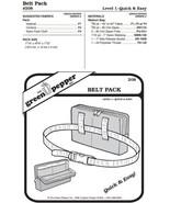 Belt Pack Bag #208 Sewing Pattern (Pattern Only) gp208 - $5.00