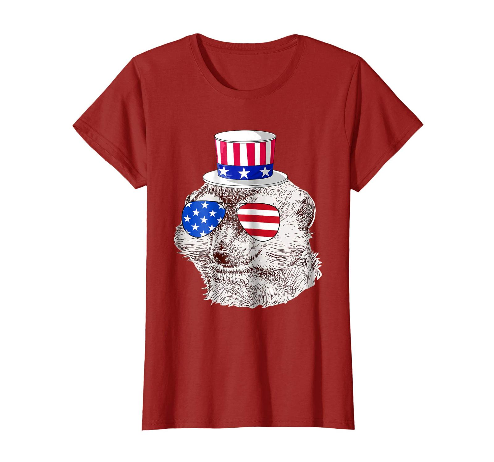 Primary image for New Shirts - Vintage Patriot Mongoose Tshirt 4th of July American Flag Wowen