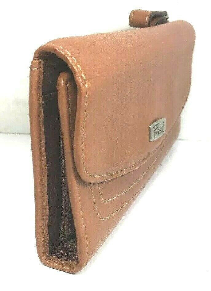 Fossil Brown Leather Clutch Wallet image 5