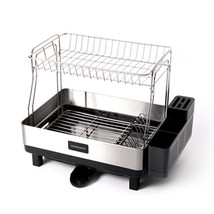 Casamami Black Label 2 Layer Kitchen Dish Drying Rack with Drainer Made in Korea image 1