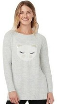 Lauren Conrad Gray KITTY CAT Raglan Tunic Sweater Medium M - $49.95
