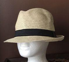 19bfcdbdce493 Previous. Scala Pronto Women s Paper Braid Short Brim Fedora Hat Ribbon One  Size Straw