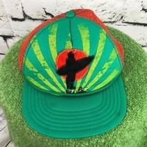 Surfer Youth Sz 4-16 Snapback Hat Green Orange Meshback Trucker Ball Cap... - $14.84