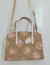 Coach Womens Charlie Leather Floral Tote Handbag SP407 $395 - $194.20