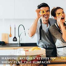 Suction Cup Hooks, SUNDOKI 10 Pack Vacuum Kitchen Towel Hooks Wreath Hangers for image 2