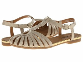 NEW BARE TRAPS GOLD LEATHER FLAT SANDALS SIZE 8 M - $39.31