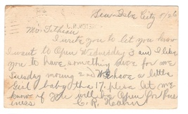 UX18 Bridgeton NJ  Hampden Machine Cancel 1903 Sea Isle City Duplex Postal Card image 2