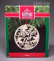 Hallmark 1990 Mother NIB Holly Leaves Ceramic Ornament QX4536 - $6.95