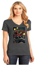 Snake Eyes & Deadpool District Made Ladies Perfect V-Neck T-Shirt Size XS-4XL - $19.99+