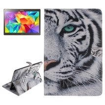 For Galaxy Tab S 10.5 Tiger Pattern Leather Case with Holder, Card Slot ... - $19.09