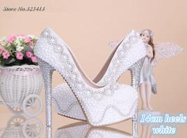 Bling Brides Stiletto Heel Crystal and pearls Wedding Bridal Shoes Bridal pumps - $129.99