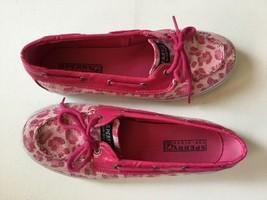 Sperry Top-Sider Biscayne Women's 5 Pink Leopard Print Sequin Boat Shoe ... - €21,00 EUR