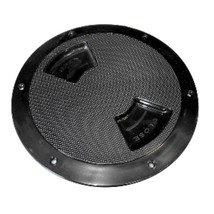 Sea-Dog Quarter-Turn Textured Deck Plate w/Internal Collar - Black - 5 - $23.61
