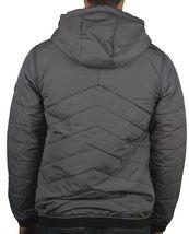 Bench Ahlo Black Charcoal Grey Quilted Lightweight Winter Jacket Hood BMKA1469 image 5