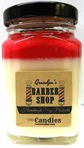 Barber Shop 6oz Victorian Square Glass Jar Soy Candle - Made with Essent... - $14.72