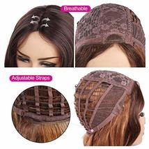 """Ama 26"""" Ombre Synthetic Wigs 1B/Blonde Dark Roots Long Wavy Synthetic Lace Front image 7"""