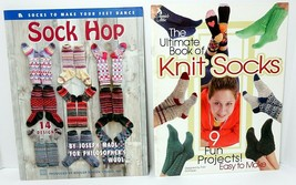 Lot of 2 Sock Knitting Books Leisure Arts Sock Hop Knit 23 Designs and Patterns - $15.19