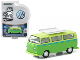 1968 Volkswagen Type 2 T2 Bus Green with Roof Rack 1/64 Diecast Model Car  by Gr - $13.99