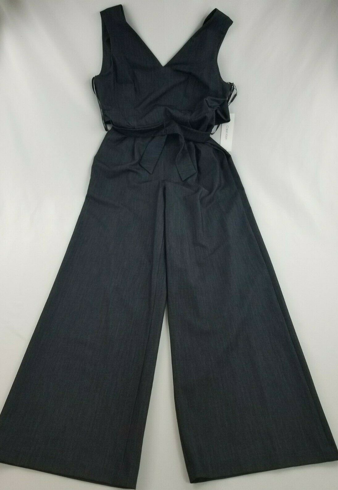 Nuevo Calvin Klein Mujer Mono Mono Pantalones Top CD9D11MT Azul Marino 4 Msrp image 3