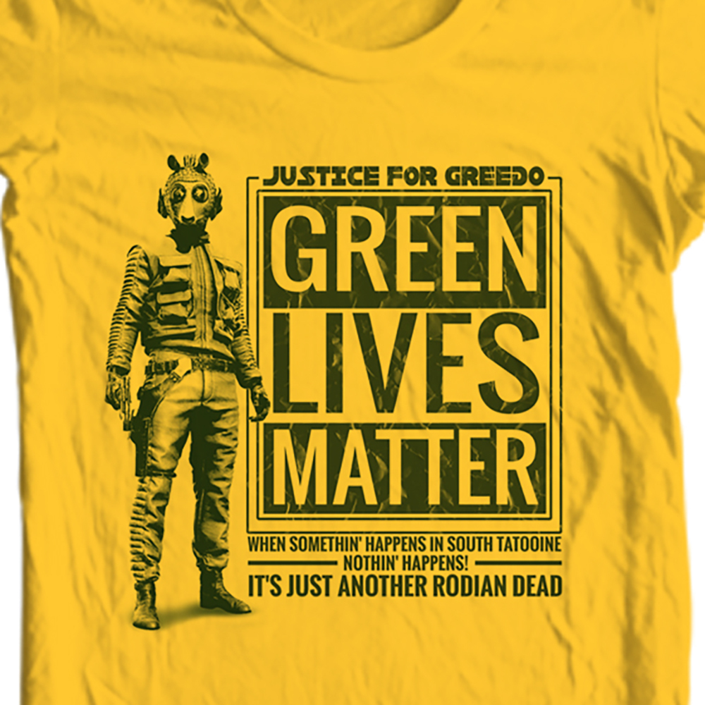 Greedo star was green lives matter retro sci t shirt for sale online store gold