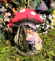 1 Pcs Miniature Garden Fairy Gnome In A Mushroom House - DL - $40.00
