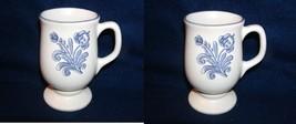 2 Pfaltzgraff  YORKTOWNE Stoneware Pedestal Mugs Excellent USA - $14.00