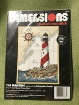"""DIMENSIONS 'The Maritime' Counted Cross Stitch Kit - NOS - 5"""" x 7"""" Framed - $14.80"""