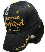 New Armed Infidel Cap Baseball Hat Patriotic Military M-16 Black - $21.27