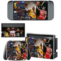 Nintendo Switch Joy-Con Dock Console Vinyl Skins Wrap NBA Goat Jordan Kobe James - $7.91