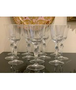 "Moser Lead Free Crystal Mozart 7 7/8"" Water Goblet Set of 12 - $712.80"