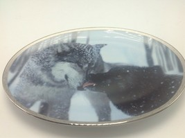 Bradford Exchange Plate Tender Moments Devotion Dutcher Wolves Oval 1998... - £8.43 GBP