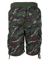 LR Scoop Men's Elastic Waist Drawstring Multi Pocket Cotton Cargo Shorts CJS-80 image 7