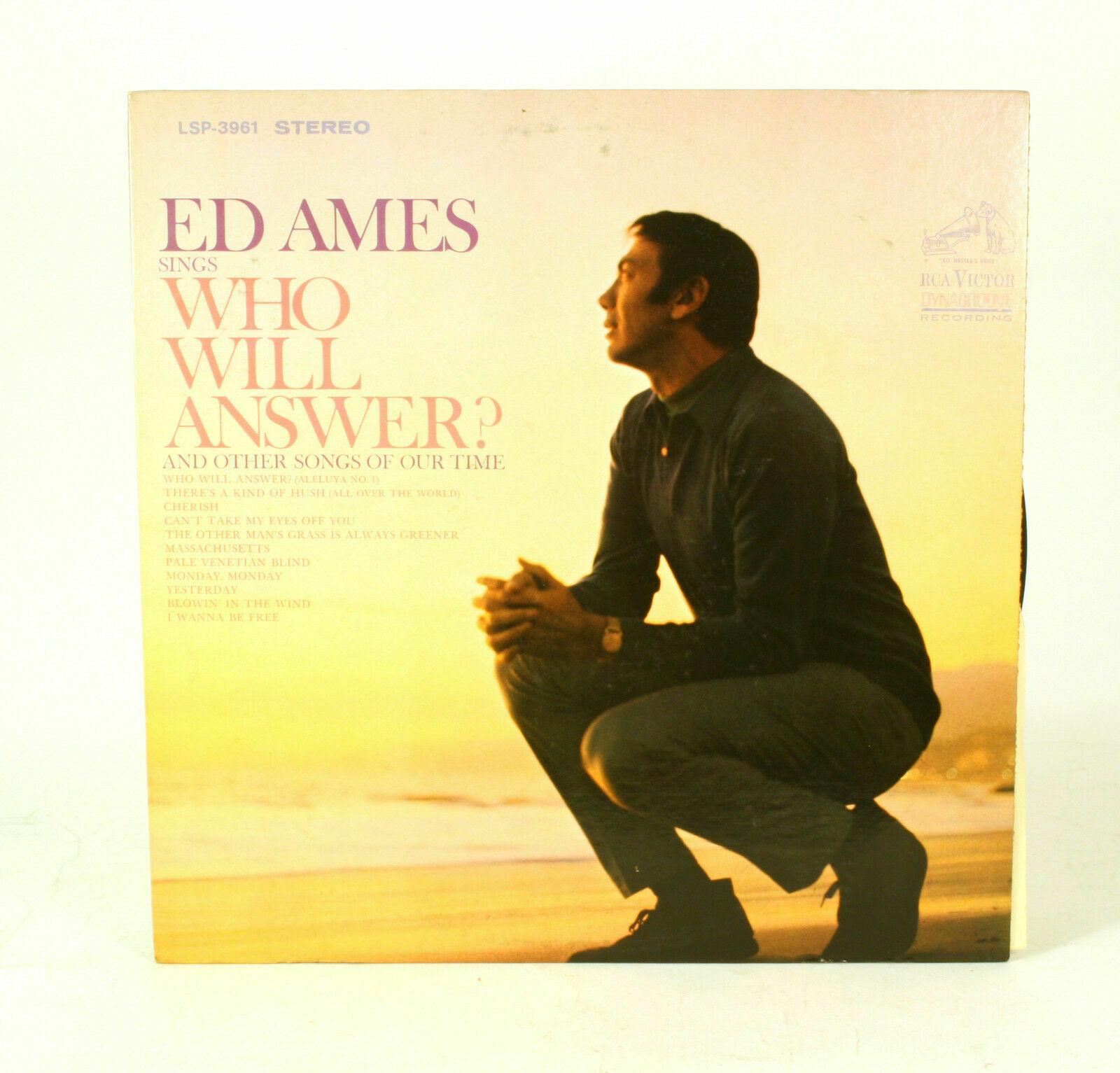 Ed Ames Who Will Answer  LP Vinyl Record Album